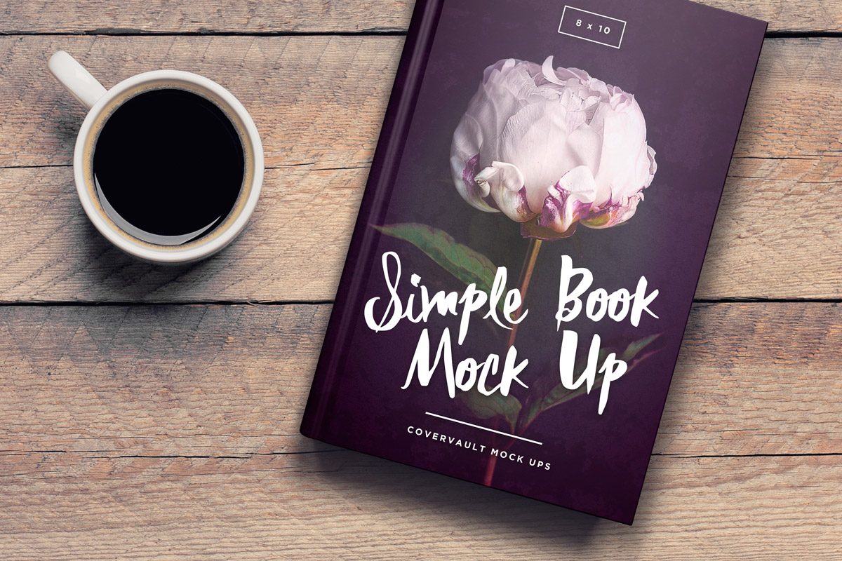 6x9 book on coffee table template mockup - covervault