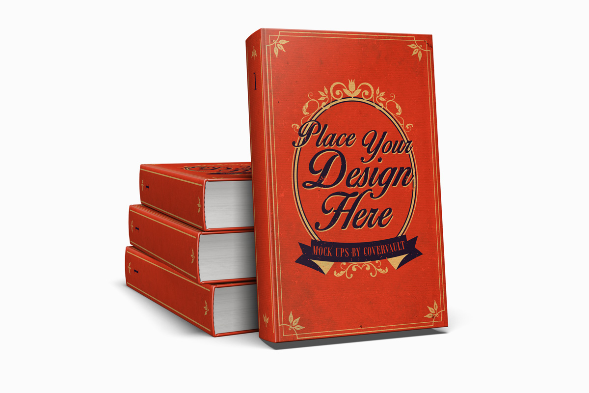5 x 8 Stacked Hardcover Presentation PSD Mockup