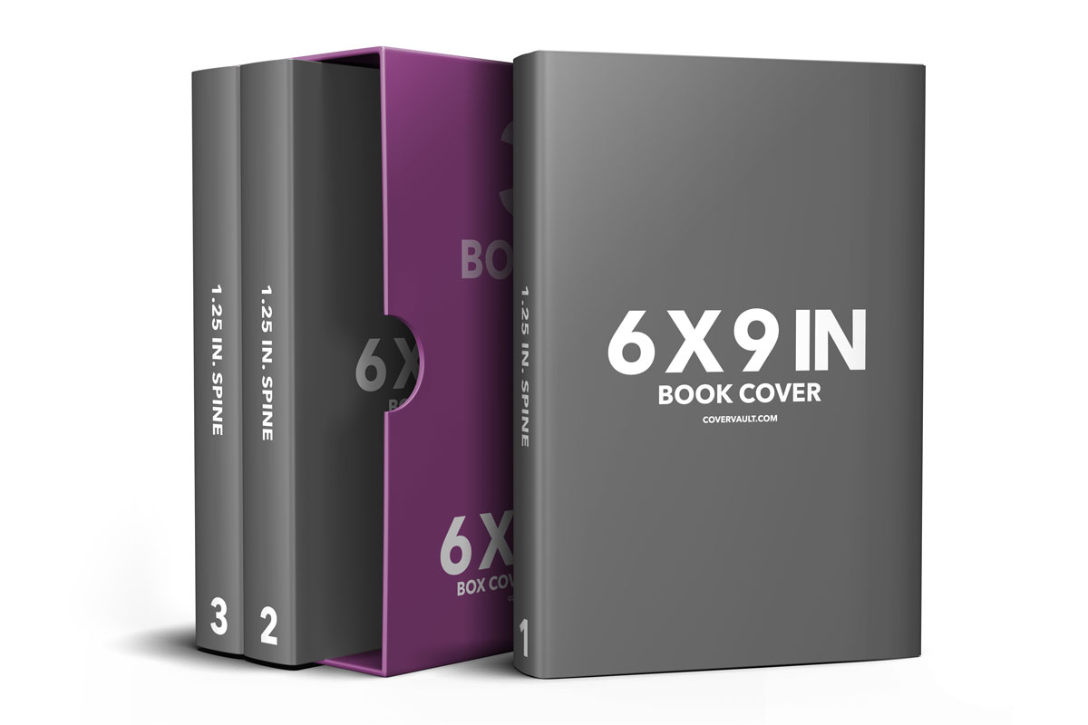 6 x 9 Box set book bundle template psd mockup