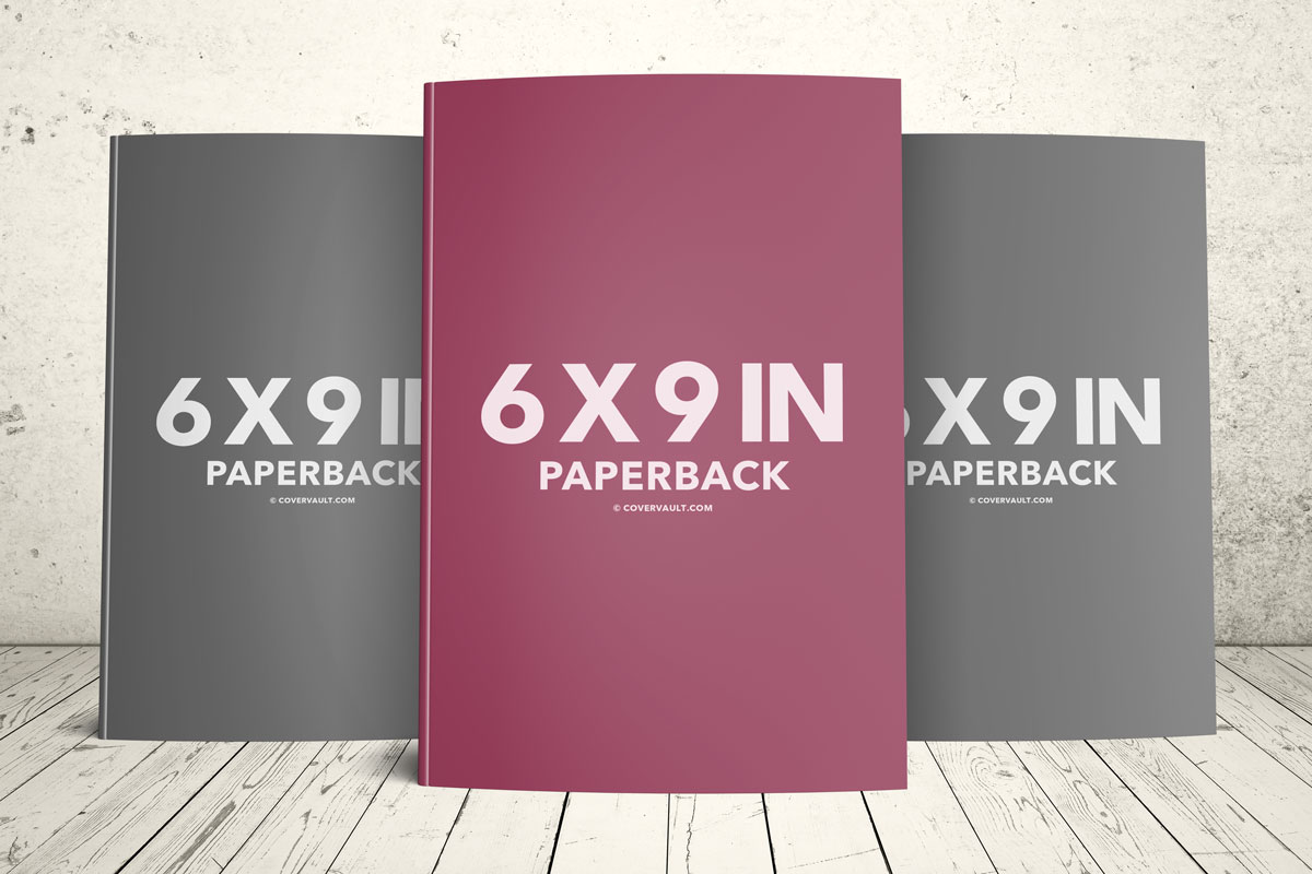 paperback book series trio standing upright psd template mockup