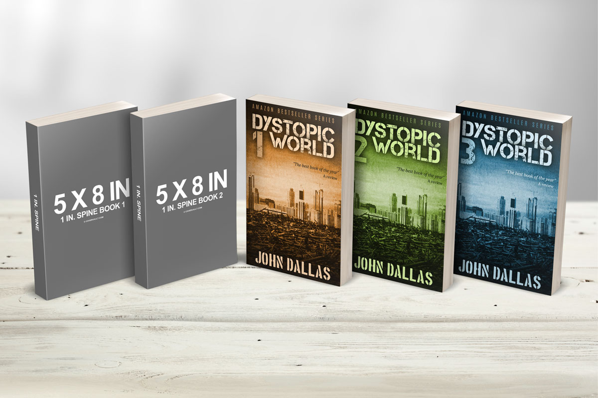 5 x 8 multi paperback book presentation mockup - covervault, Powerpoint templates