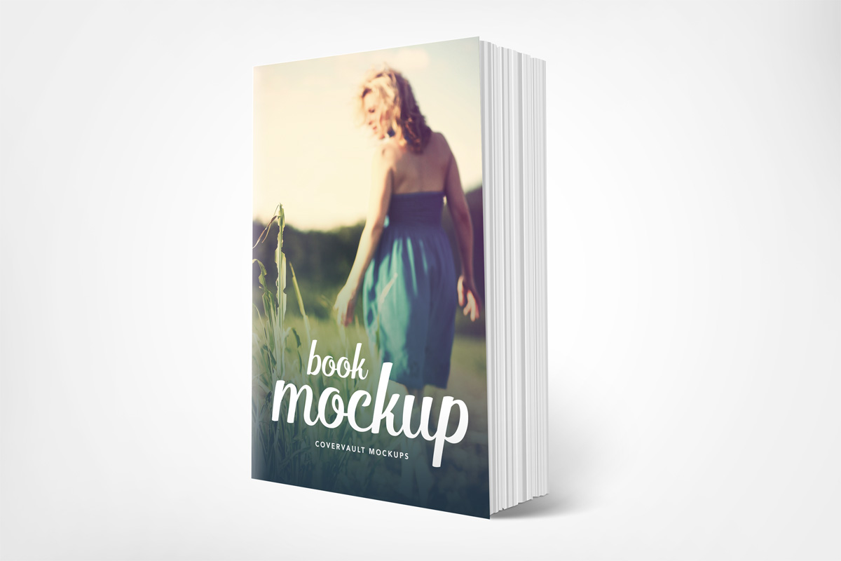 6 x 9 Standing Paperback Book Mockup