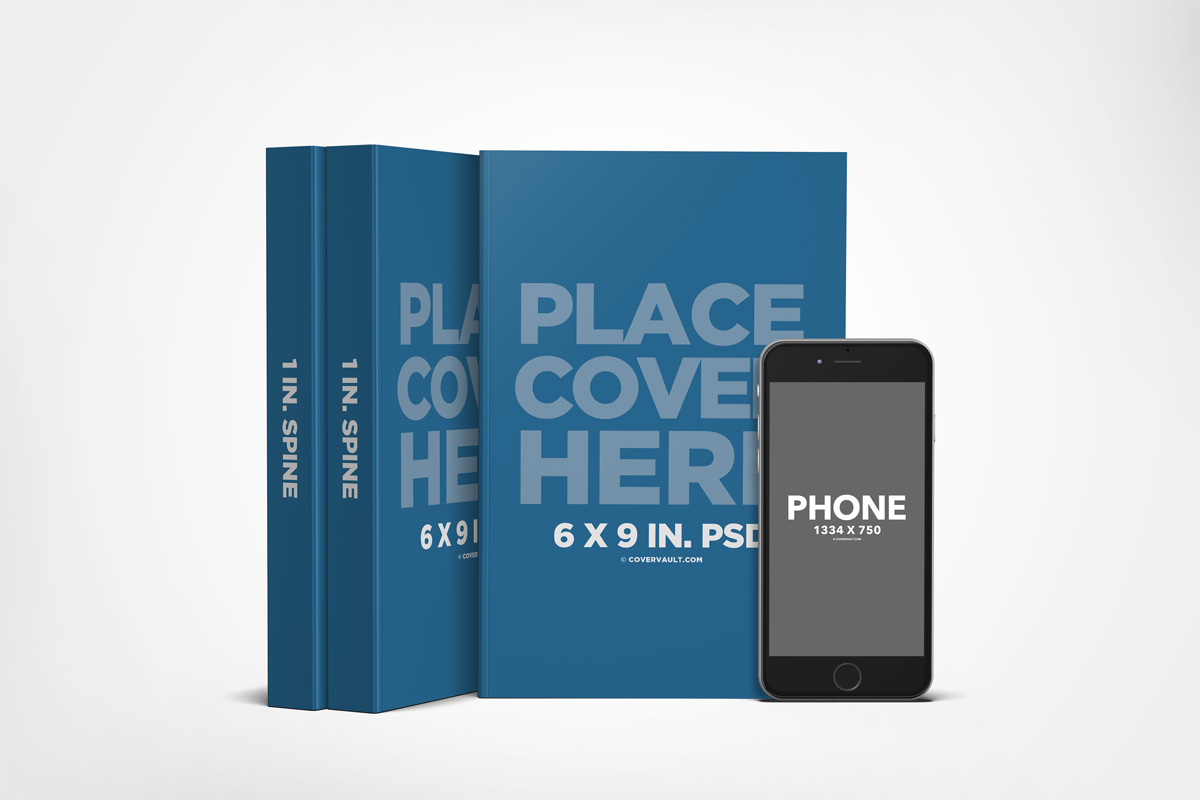 6 x 9 Book Series Mockup with Ereader Template