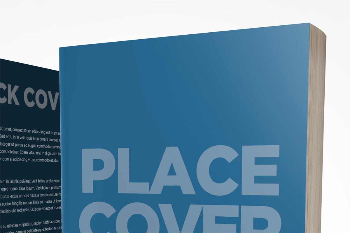front and back cover book mockup template