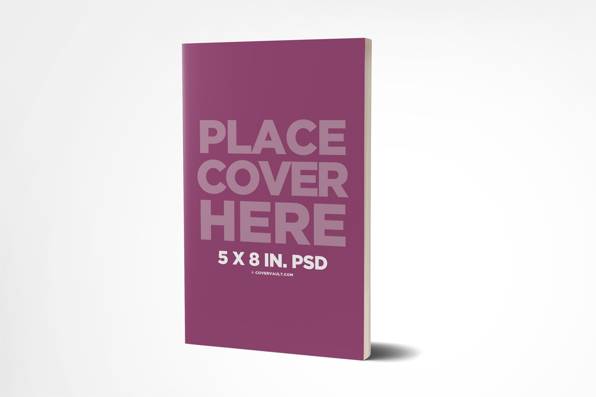 Soft Cover Book Mockup Template : Paperback book mockup with fewer pages covervault