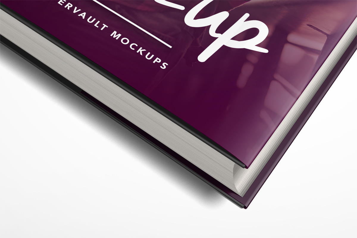 book dust jacket mockup PSD mockup