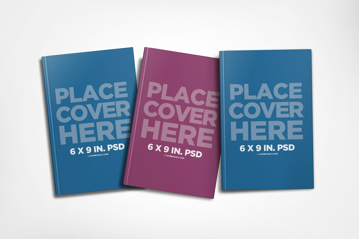Spineless Scattered 6 x 9 Book Series Mockup
