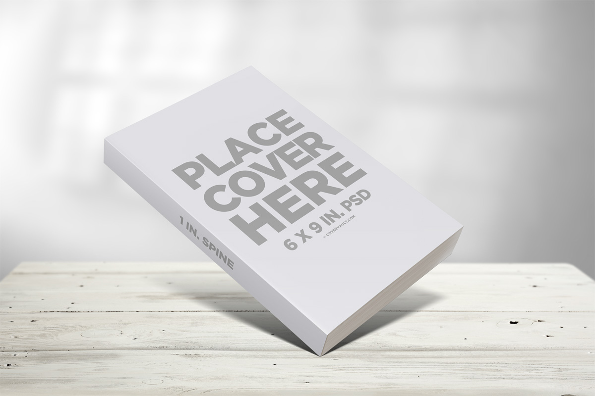 Propped Up 6 x 9 Paperback Book Mockup
