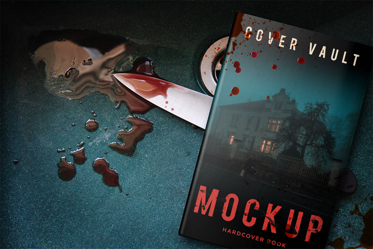 5 x 8 Book Mockup for Horror and Murder