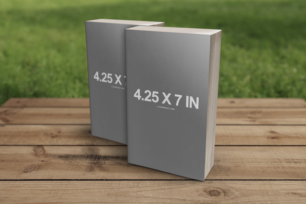 4.25 x 7 in Mass Market Paperback Book Template Mockup