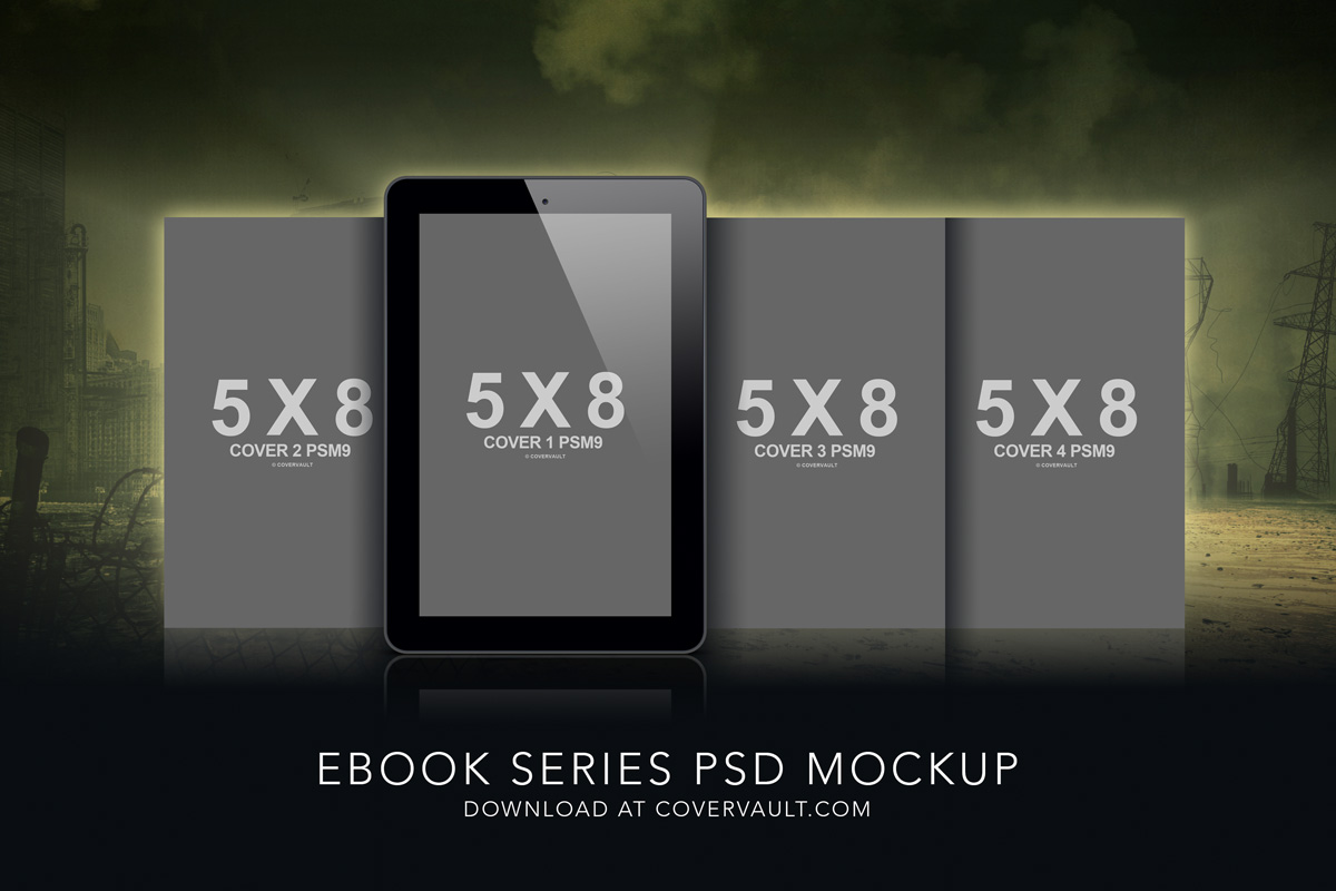 5 x 8 Dystopian Ebook Series Mockup