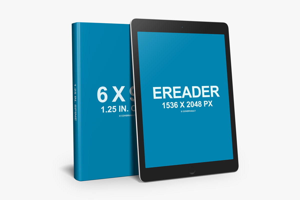 6 X 9 Book With Ereader Promo Psd Template Covervault