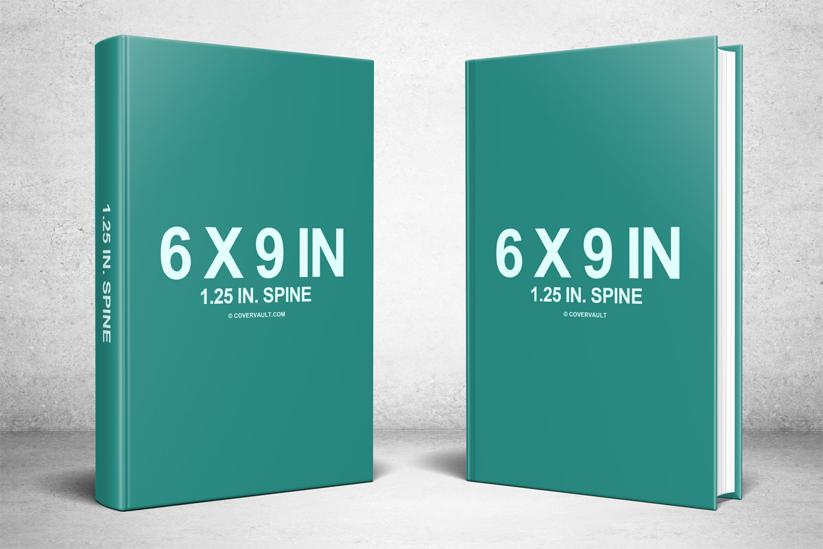Two 6 x 9 Hardcovers Standing PSD Mockup - Covervault