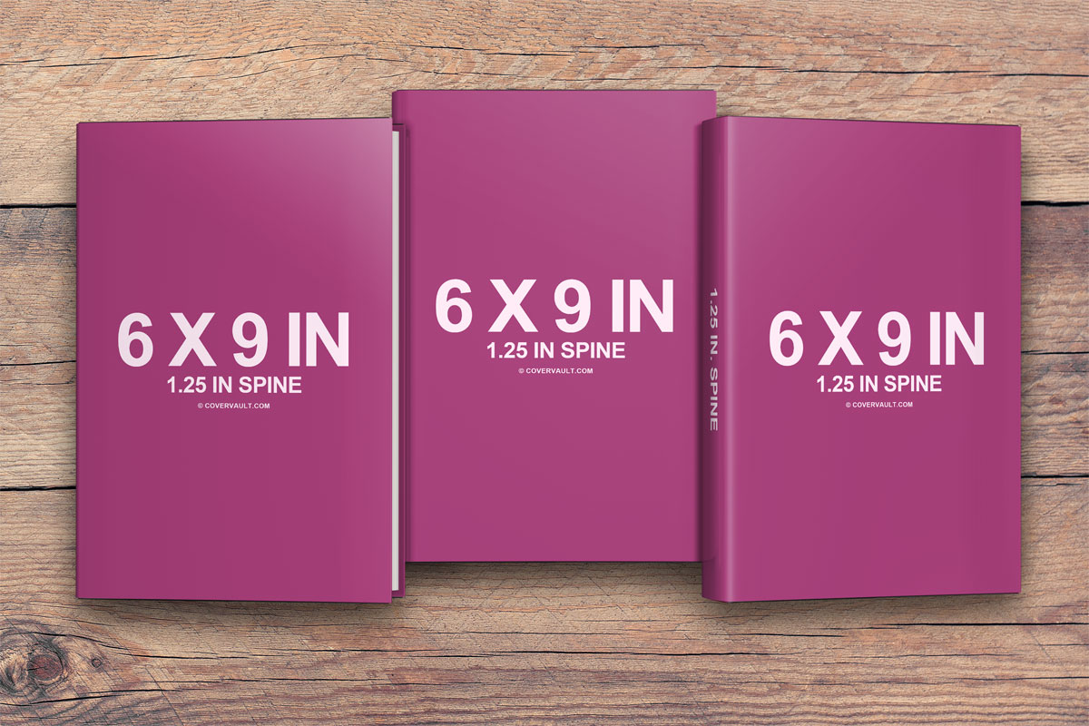 6 x 9 Hardcover Book Series Wood Floor Background PSD Template Mockup