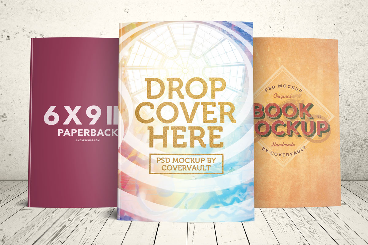 Book Cover Template Vol ~ Covervault free psd mockups for books