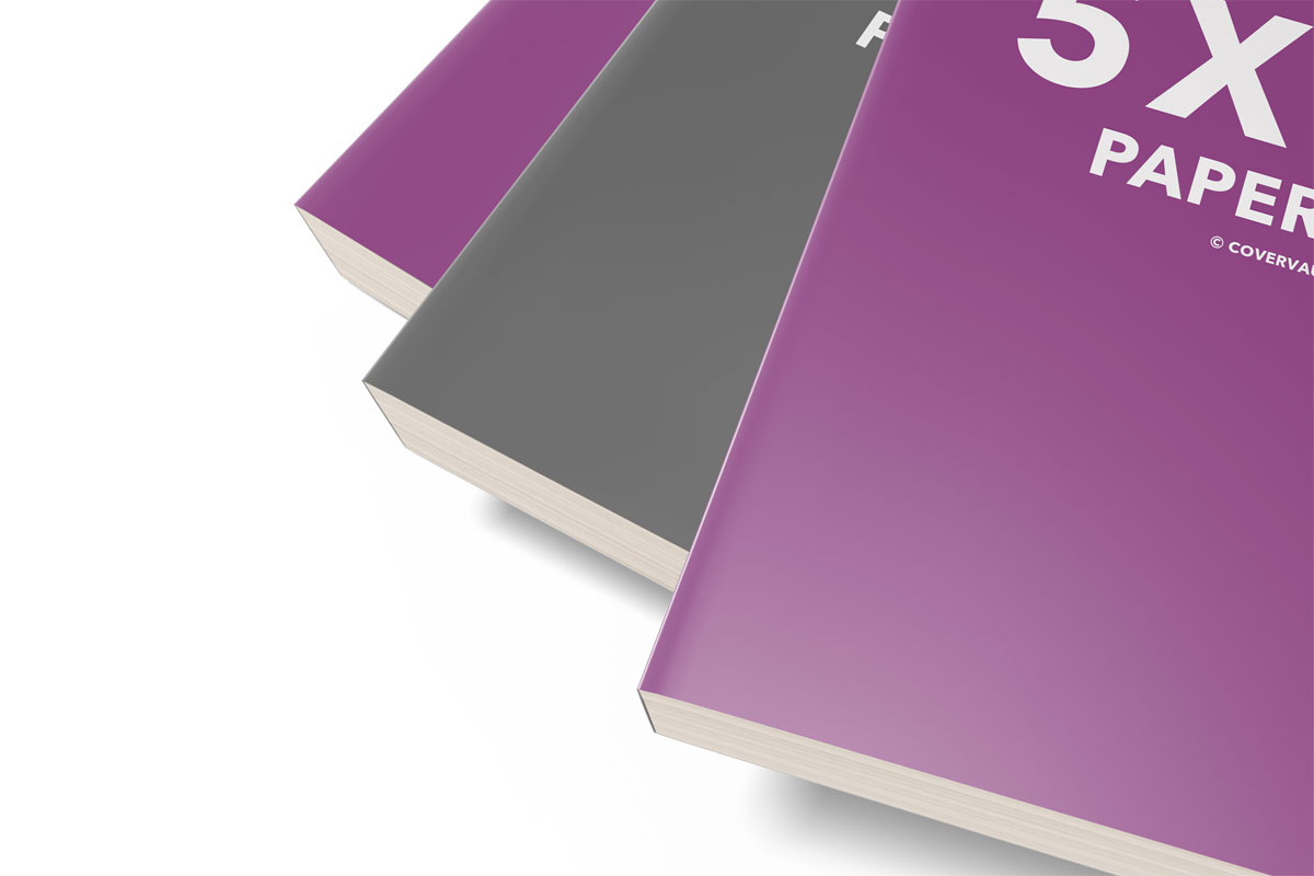 5x8 stack or stacked mass market paperback template psd mockup