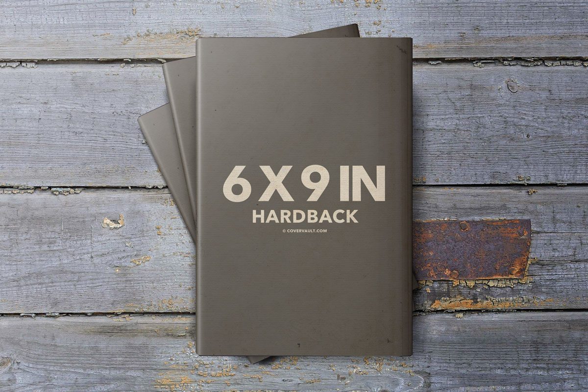 6x9 Book Wood Deck Stack grunge dust jacket mockup template