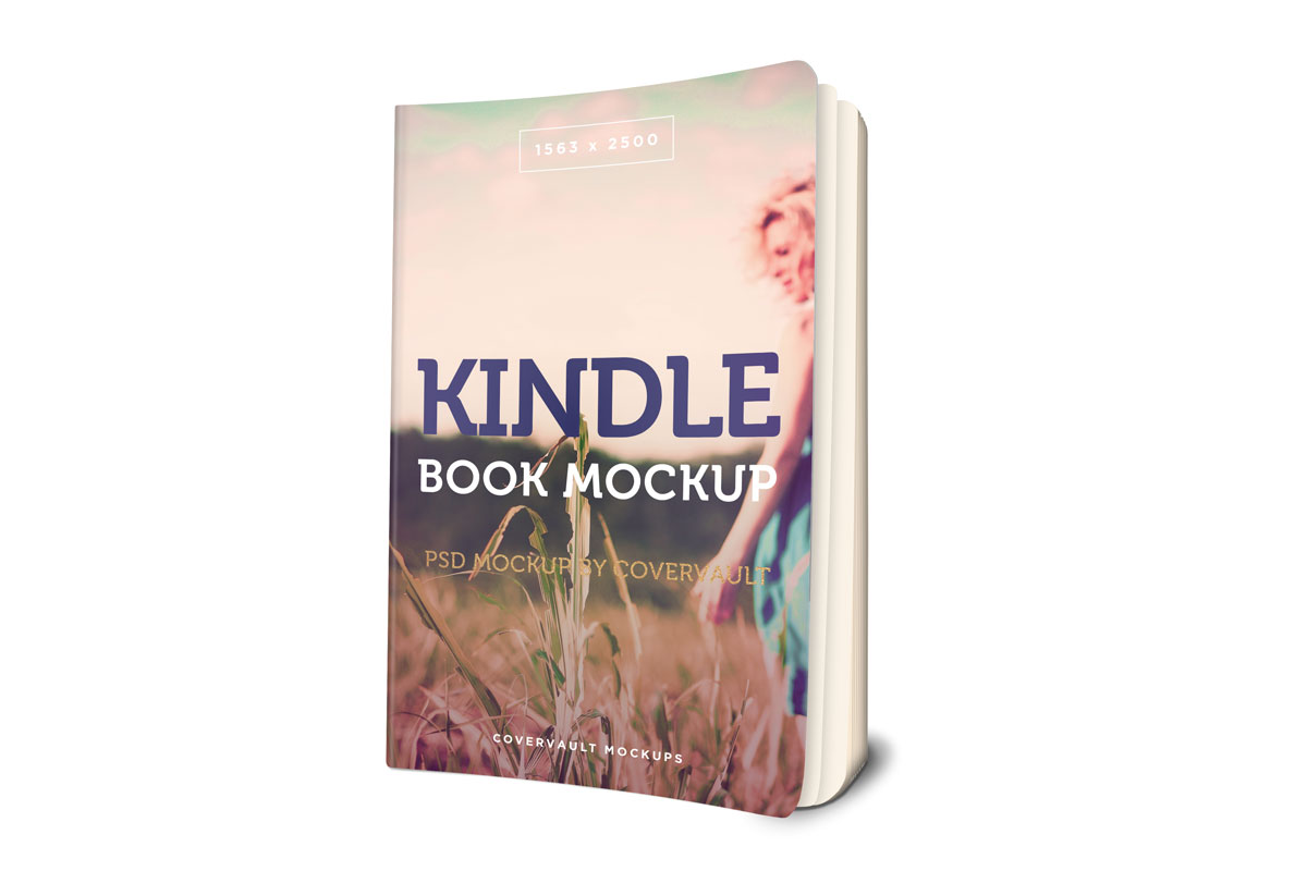 kindle book template 3d mockup paperback