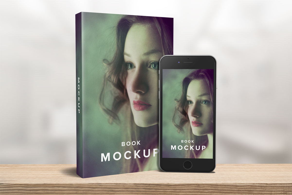 paperback book mockup iphone template 5x8