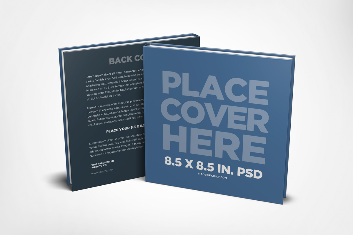 children kids square book mockup PSD template