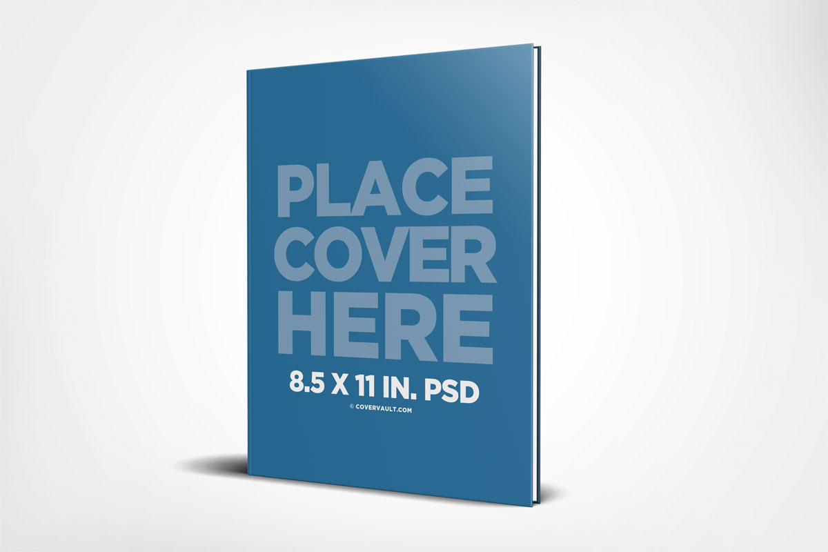 Book Cover Mockup Tutorial ~ Standing hardcover book mockup covervault