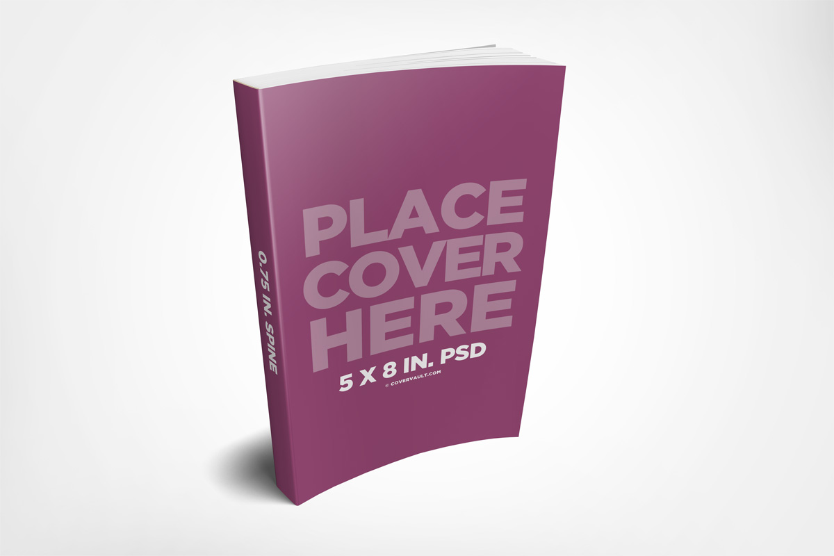 Book Cover Mockup Tutorial ~ Paperback ebook mockup template covervault