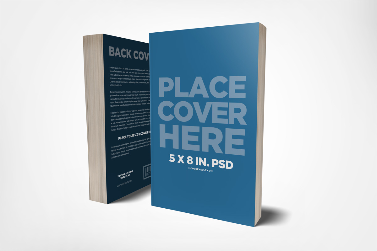 Book Back Cover Template : Front back cover book mockup covervault