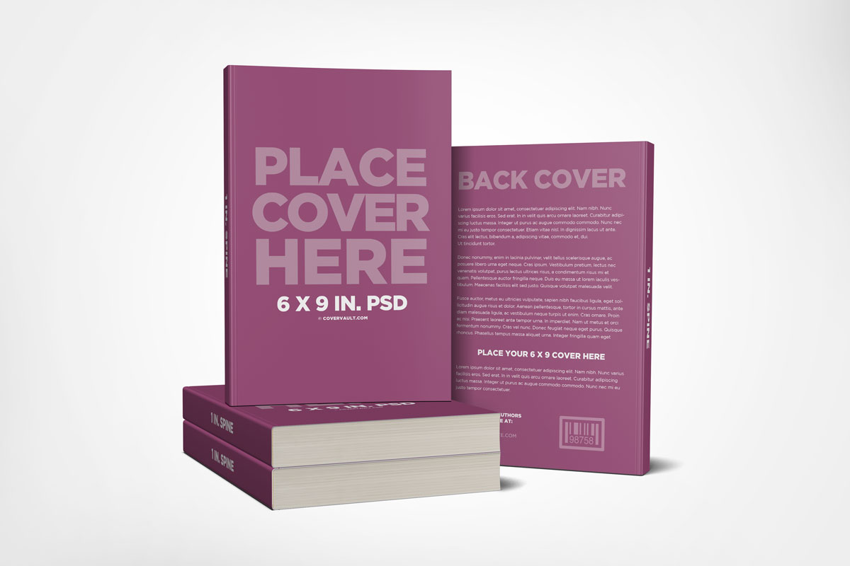 stacked book mockup paperback front and back template promo