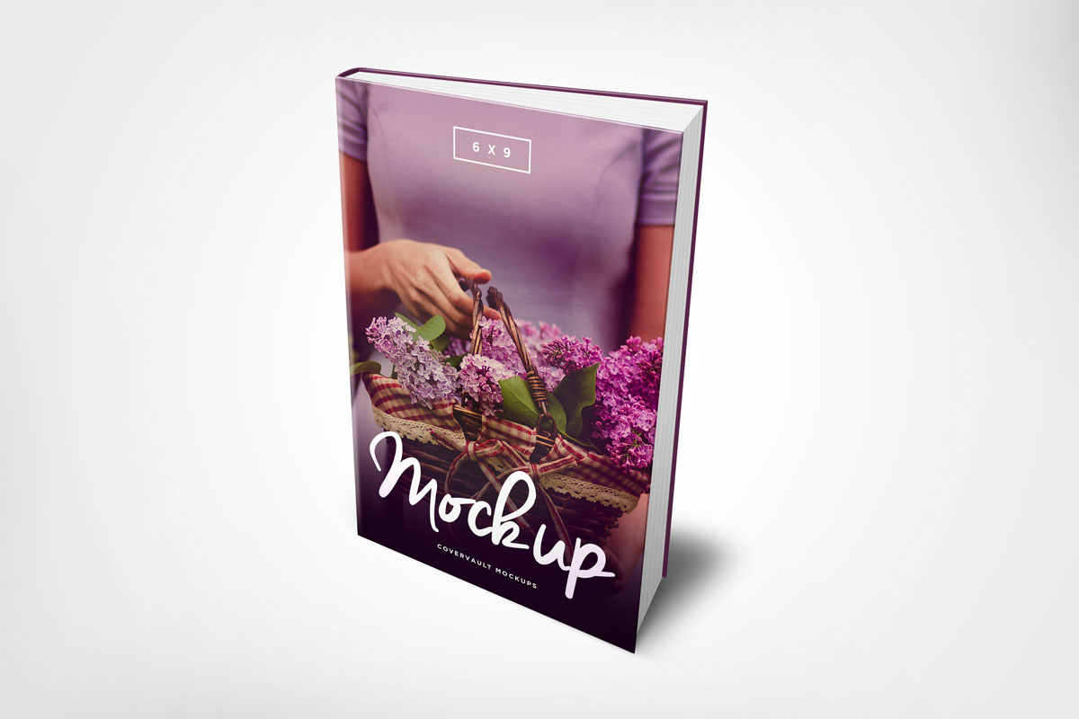 6 x 9 Hardcover eBook Mockup