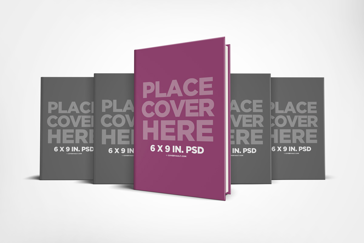 book series mockup hardcover multi set together 6 x 9